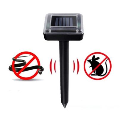Set of 2 Solar sonic snake repeller pest control solution for home garden