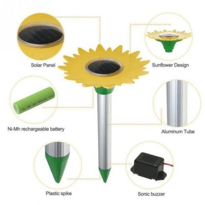 Sunflower Electronic Solar repeller for pests like mice rats snakes ants