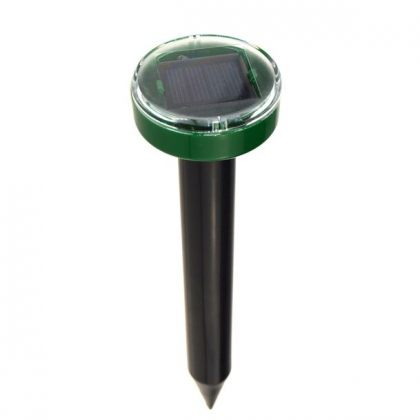 Set of 2 Eco-friendly solar pest control repellers with sonic waves for garden