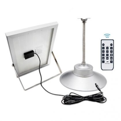 Solar powered shed light 36 LED Pendant Lamp with remote control