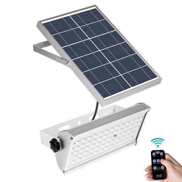 Ultra-bright 12W 65 LED Solar Flood Light with Sensor Remote Control