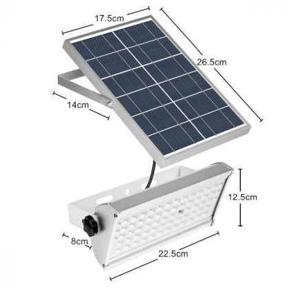 Ultra-bright 12W 65 LED Solar Flood Light with Sensor Remote Control