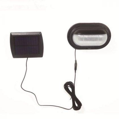 Outdoor 10 LED Solar PIR Sensor Wall Light with DIM Lighting mode