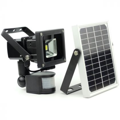 Outdoor 5-10W COB LED Solar Sensor Light for Security with PIR Motion