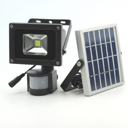 Outdoor 5-10W COB LED Solar Sensor Light for Security with PIR Motion
