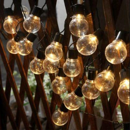 Outdoor 10 LED Clear Bulbs Solar String Lights Christmas Decoration
