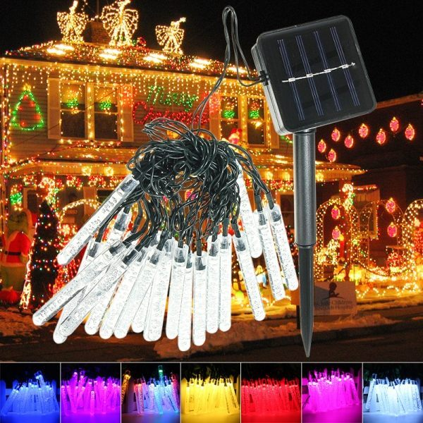 purchase cheap 86dcb 13976 Outdoor 20 LED Bubble Solar Icicle Lights Christmas ...