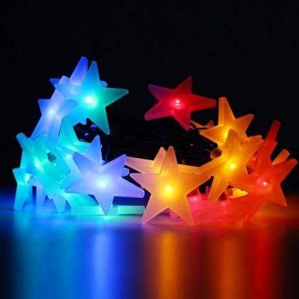 LED Stars Solar Christmas Lights Xmas Tree Decoration String
