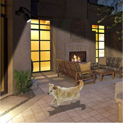 Outdoor 10 LED Security Solar Powered Spotlight with Motion Sensor
