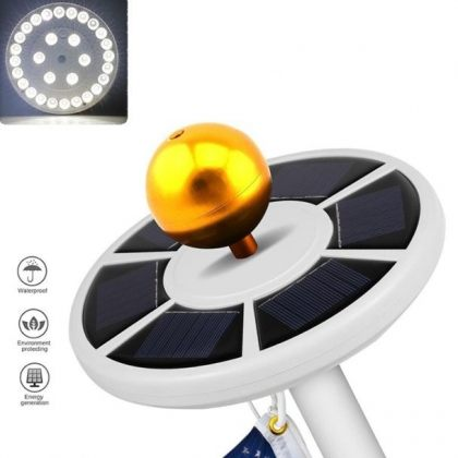 Outdoor 26 LED Solar Spotlight for Flag pole for home or camping