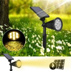 Outdoor Bright 7 LED Solar Spot Light for Garden Lawn Tree Decoration