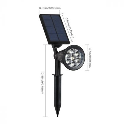 Bright Colour Changing 7 LED Solar Spot Light for Outdoor Garden Tree Landscape Decoration