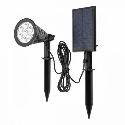Colour Changing 7 LED Solar Spot Light with Separate Solar Panel