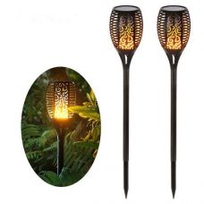 Dancing Flame 96 LED Outdoor Flickering Solar Tiki Torch for garden