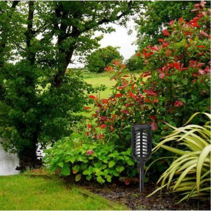 Flickering Flame Solar Tiki Light 102 LED Outdoor Torch for Garden