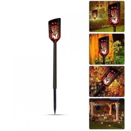 Flickering Flame Solar Tiki Light 102 LED Outdoor Torch for Garden