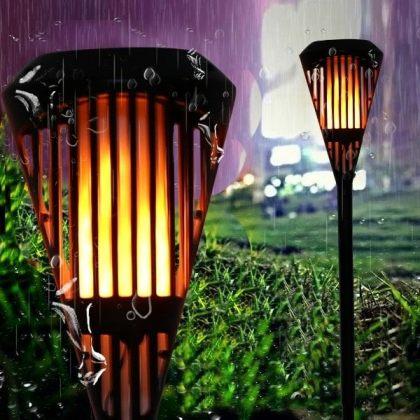 Solar Flickering Flame Light 90 LED Lawn Torch for Garden Landscape