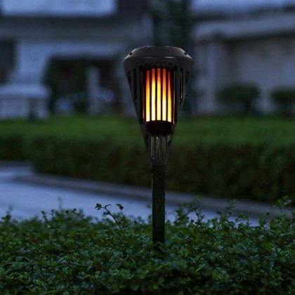 Solar Flickering Flame Light 90 LED Lawn Torch for Garden Landscape