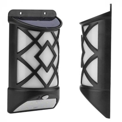 Universal 2-in-1 5W Wall Security Solar Flame Light with Motion Sensor