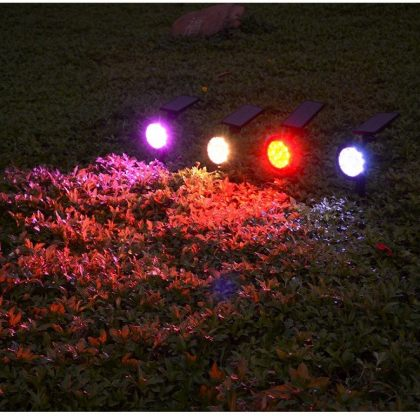 Outdoor Bright 9 LED Solar Garden Spotlight Landscape Tree Decoration