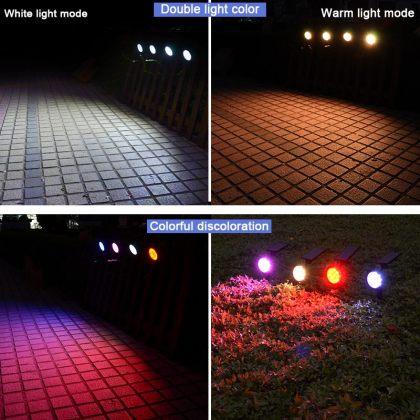 Outdoor Bright 9 LED Solar Garden Spotlight Landscape Tree Decoration