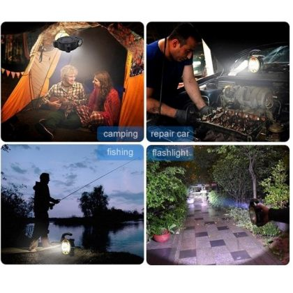 Multifunctional COB LED Emergency Solar Camping Light with USB Cable