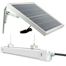 Tri-Proof 20W LED Solar Batten Tube Light IP65 10.4Ah Lithium Battery