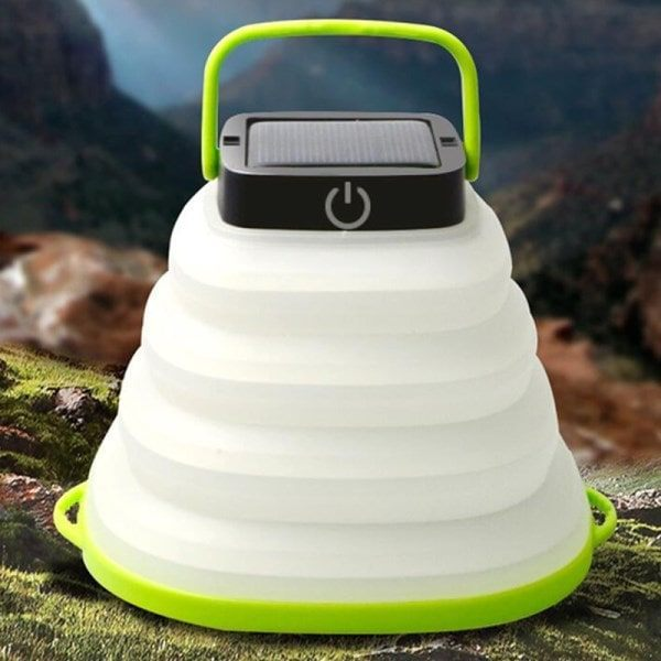 Waterproof Portable Foldable Solar Camping Lantern Light with USB