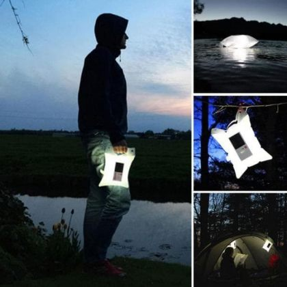 Waterproof Inflatable Solar Lantern Air Bag Light for Camping Hiking