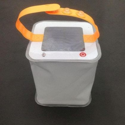 Foldable 1W Inflatable Solar Camping Tent Light Air Bag Lantern