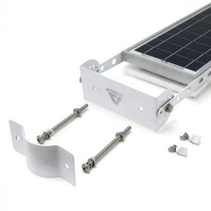 Outdoor Bright 12W 24W LED Solar Pole Wall Street Light Sensor Lamp