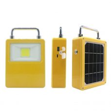 Portable Working Solar Flood Light with Power Bank Function USB Port
