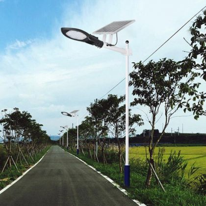 Solar Street Road Light with Strong Long-Lasting Battery Bright Double LED