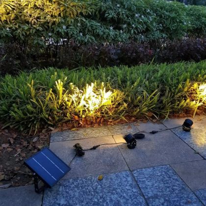 Twin 6W LED Solar Landscape Garden Spotlight for Outdoor Decoration