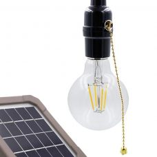 Vintage Indoor Solar Shed Light Single LED Warm White Bulb Compact Lamp