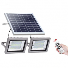 Universal Powerful Solar Flood Light Double LED Head Remote Control