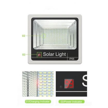 Commercial Grade Solar Flood Light High Power LED 40W 60W 80W 100W 120W