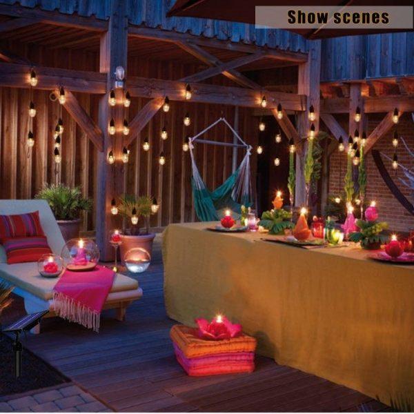 Bright July Diy Outdoor String Lights: Bright Solar String Light Edison Festive 12 Outdoor