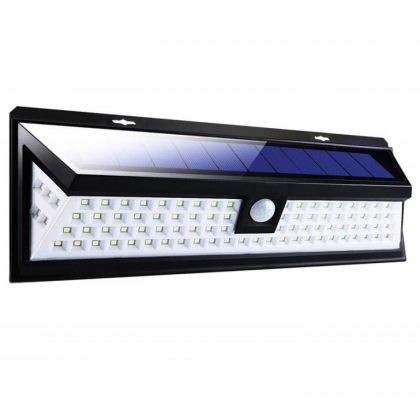 Ultra-bright 7W 118 LED Solar PIR Sensor Light with wide angle