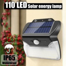 Outdoor Security Solar Sensor Wall Light 110 LED 3 Lighting Modes