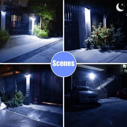 Bright 208 LED Ultra-Wide Angle Solar Wall Light Motion Sensor 3 Modes