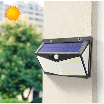 Bright 208 LED Ultra-Wide Angle Solar Wall Light Motion Sensor 3 Modes