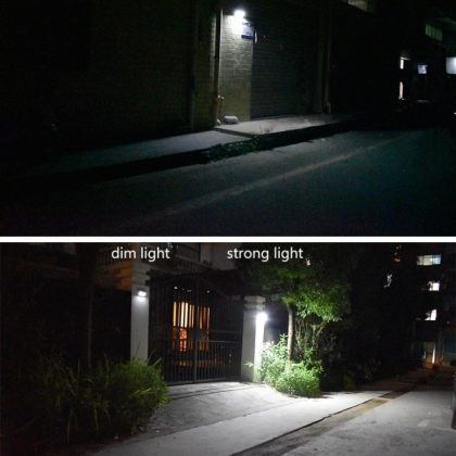 Bright 60 LED Security Solar Motion Sensor Wall Light Remote Control