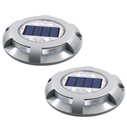 Durable 4 LED Solar Road Path Light High-Shock Resistant Aluminium Alloy