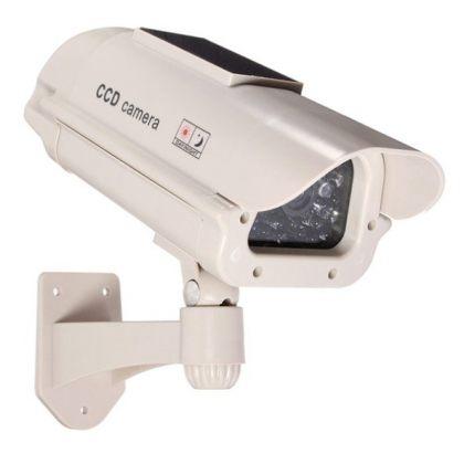 Solar Security Imitation CCTV Camera with Blinking Red LED