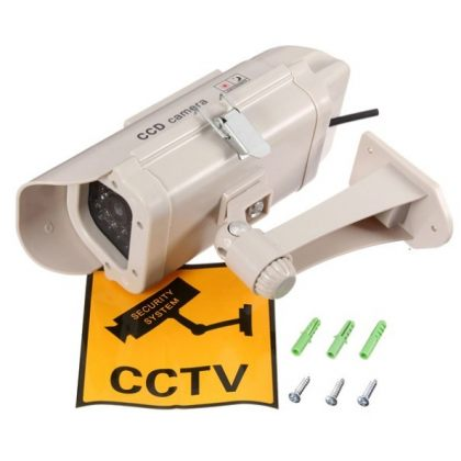 Solar Security Imitation CCTV Camera with Blinking Red LED