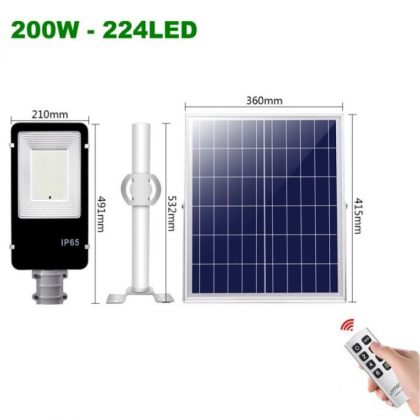 High Power 100W 200W LED Solar Street Light Outdoor Road Lamp