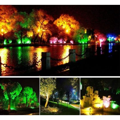 Bright Colour Changing Solar Landscape Flood Lights 50W 100W with Remote