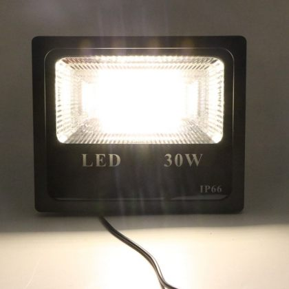 Bright 20W 30W 50W Solar Flood Light Double White with Remote Control
