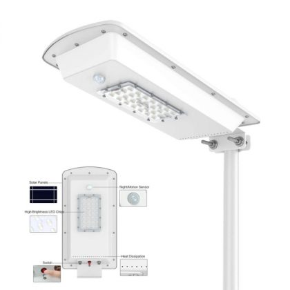 All-In-One Solar Street Light with PIR Motion Sensor 15W Security Lamp